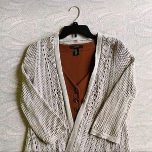 Style & Co Crocheted Cardigan